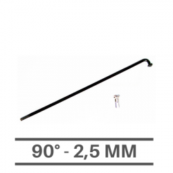 Raggi Neri 2,5mm - 90°
