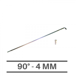 Raggi Cromati 4mm - 90°